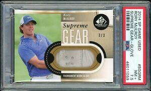 ⛳️ 2014 SP Game Used Golf Supreme Gear 3/3 RORY McILROY glove PSA 7.5