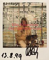 🔝MANUELA (1943-2001) - Original signiertes Polaroid Foto - Unikat! - Wegener