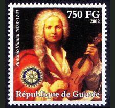 Guinea 2002 MNH, Antonio Vivaldi, Rotary International Club, Music, violinist