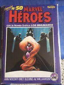 NOVELA GRÁFICA LOS INHUMANOS FORUM MARVEL HEROES 50: