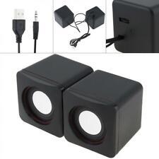 6W 2.0 USB Mini Portable Stereo Speaker Laptop Desktop Computer PC Smartphone