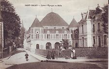 France Saint-Calais - Caisse d'Epargne et Halle old unused postcard