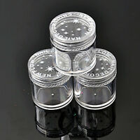 10x Plastic Clear Empty Nail Art Storage Box Rhinestone Bead Container Top PV