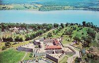 Vintage Postcard Chrome Historic Fort Ticonderoga New York Aerial View