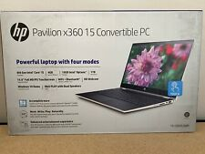 "NEW HP 15-CR0053WM X360 15.6"" Touch Intel i5-8250U 1.6GHz4GB1TB 16GB Optane Gold"