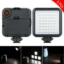 3Pcs W49 Camera LED Video Light Photographic Lighting 6000K For Camera Camcorder