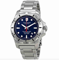 Victorinox Swiss Army Men's Blue Dial Silver Stainless Steel Watch 0116