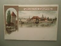 Ansichtskarte Konstanz Bodensee Litho ca. 1900 v. K. Mutter