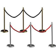 Rope Railing Aisle Dividers, Stanchions,movie, crowd control red or Black