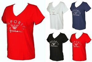 T-shirt t-shirt woman V-neck short sleeve cotton EMPORIO ARMANI article 164334 0