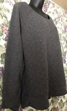 GREY QUILTED TOP SHIRT LONG SLEEVE XL EXTRA LARGE 32Heat