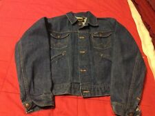 1970's Wrangler Denim Jacket Vintage Jean Jacket Butterfly Collar Biker Sz 36