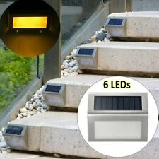 2/4/6X Solar LED Deck Lights Outdoor Path Garden Pathway Stairs Step Fence Lamp
