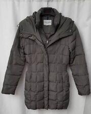COLE HAAN SIGNATURE Women Puffer Down Coat Jacket Pillow Collar GREY XSmall