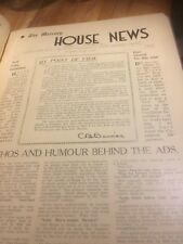 The Mercury House News. Number 1, December 1936 to Number 14, March 1938