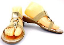 Anne Klein Sport Womens Kiera Thong Sandals Size 7 Tan Gold