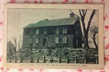 """1912 B&W Postcard """"Block House, Used In The Time Of Indians, Marietta, Ohio"""""""