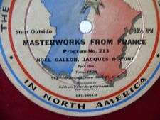 RED Vinyl Record Masterworks From France The French Broadcasting System HUGE 16""