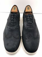 Cole Haan Mens ZeroGrand Wingtip Oxfords Sneakers Black Suede Lace Up 12 M