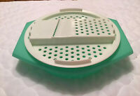 Vintage Tupperware Jadite Cheese Grater Veggie Shredder #786-2