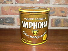 Vintage Amphora Extra Mild Cavendish Tobacco Tin~14oz Can w/Lid, Douwe Egberts