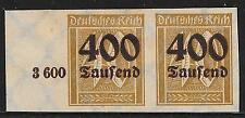 German Reich stamps 1923 MI 300 Imperforated Margin  PAIR  UNG   VF