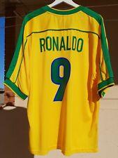 Camiseta Selección de Brasil. MUNDIAL 98. RONALDO.  PERFECTA