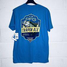 Columbia PFG Men's L T Shirt Tarpon Ale Blue Fishing Outdoor NWT $25