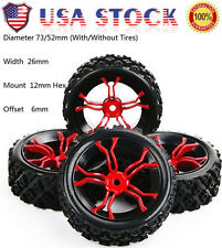 4XRally Tyre Wheel Rim 12mm Hex For HPI RC 1/10 Racing Off Road car MPNKR+PP0487