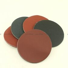 """25X 5"""" Grit100 120 180 240 320 No Hole Sanding Disc Hook Loop Sandpaper NEW"""