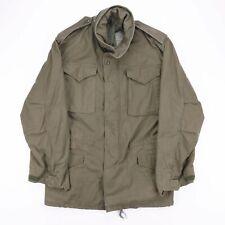 Vintage Khaki Green Army Military Combat Parka Hooded Jacket Size Mens Small