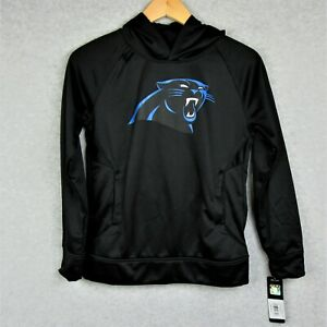 NFL Boys Carolina Panthers Logo Hoodie Black Size Medium 10/12 NWT