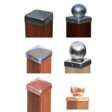 Pfostenkappe Zaunkappe Edelstahl / feuerverzinkt / Kupfer / Kugel oder Pyramide