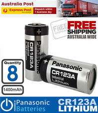 8x Panasonic 3V CR123A 1400mAh Photo Lithium Battery CR17345 CR DL EL 123 A AS