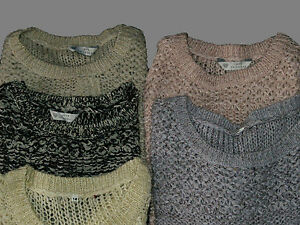 New Ladies BHS BLACK, NEUTRAL Jumper Sweater with Sparkle - Sizes 8, 10, 12, 14