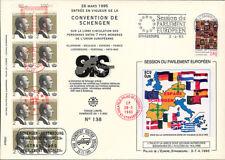 Pe301 fdc parliament EUR. schengen Convention 3-4-95