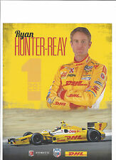 "2013 INDY 500 RYAN HUNTER-REAY USA ANDRETTI AUTOSPORT INDYCAR 8""X10"" HERO CARD"