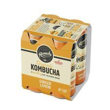 Remedy Organic Kombucha Ginger Lemon Drink Multipack Cans 250mL 4 pack