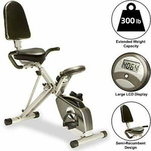 Exerpeutic 400XL Folding Recumbent Bike with Performance Monitor