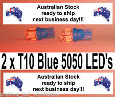BLUE LED Number Plate Light globe bulb upgrade LEDs for Mitsubishi 380