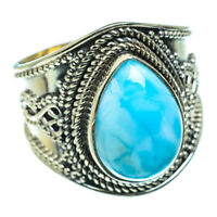 Larimar 925 Sterling Silver Ring Size 8 Ana Co Jewelry R47737F