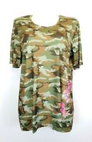 41) Manou Lenz Damen TopT-Shirt Camouflage Neu Gr. 38 42 44 46 48 50 52 54 56