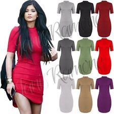 Viscose Polo Neck Tunic Dresses for Women