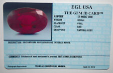 EGL USA CERTIFIED OVAL CUT RED NATURAL RUBY 0.59 CT LOOSE GENUINE GEMSTONE