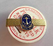 Marine Shipbuilding Union Maritime Afl-Cio Vintage 1960's Tie Clasp Clip Iumswa