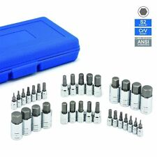 32 pc Master Hex Bit Socket Set SAE & METRIC Standard MM