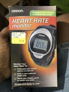 Omron HR-100C Heart Rate Monitor Watch Alarm Stopwatch NEW BATTERIES!