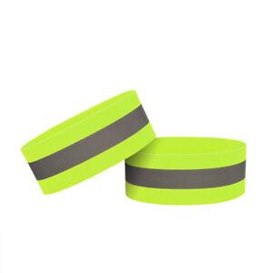 Reflective Bands Wristband Safety Reflector Tape Straps for Night Walking Bik JN