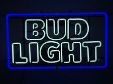 Bud Light 30� Neon Blue Bar Sign Man Cave Turned On For Pictures Only 0 Hours