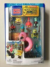 SPONGE BOB SQUAREPANTS Movie Mega Blocks Figure Set NEW Patrick Squidward Crabs